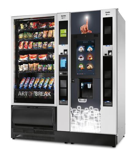 Торговый автомат для продажи кофе Necta CANTO TOUCH с сенсорным экраном (в спарке со снеком Samba Touch)
