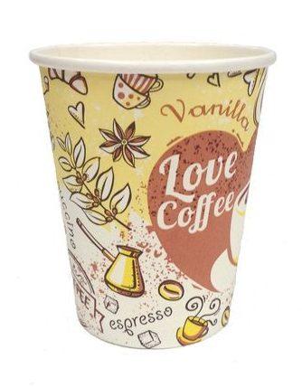 Бумажные стаканы для кофе с логотипом оптом в Украине